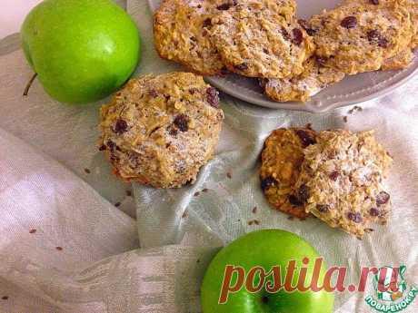 Овсяное печенье с яблоком, изюмом и орехами Кулинарный рецепт