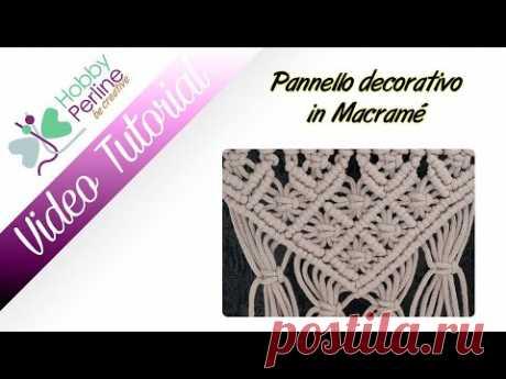 Pannello decorativo in Macramè | TUTORIAL - HobbyPerline.com