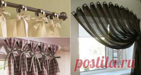 Мастер-класс по декору окон Текстильные композиции для окон имеют множество вариантов. Разнообразия в оформлении можно добиться не только выбором ткани для пошива штор, но и используя различные аксессуары: карнизы, тесьму для др…