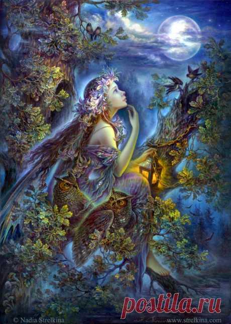 Обаяние Сказочных Грёз... Лаковая миниатюра Надежды Стрелкиной. Автор - Matrioshka . Это цитата этого сообщения Обаяние Сказочных Грёз... Лаковая миниатюра Надежды Стрелкиной. Лесная мечтательница Лунный ангел Лунный ангел В час, когда луна встает над миром, Обращаясь к людям ликом многодумным, Из лучей холодных, как из дыма, Появляется летящий ангел лунный. Он…