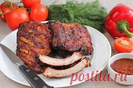 Как приготовить свиные ребрышки в духовке - рецепт, ингредиенты и фотографии
