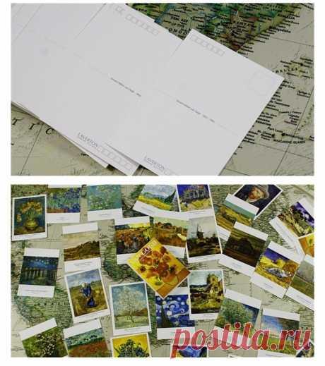 Подарочный набор открыток репродукции картин Ван Гога 30 штук в наборе ==============================  11.11 близко, кидайте товары в корзину, чтобы получить скидки до 70% в дни распродажи