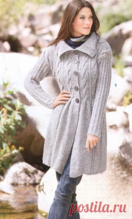 Вязаное пальто спицами схемы. Вязаное пальто с описанием | Handmade24