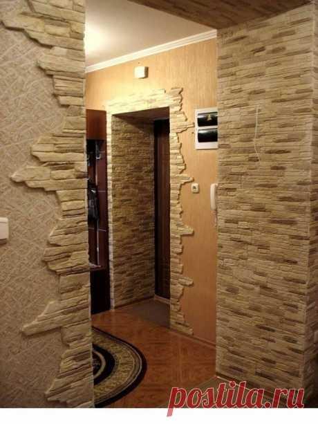 Декоративный камень в интерьере. Оригинально и необычно.