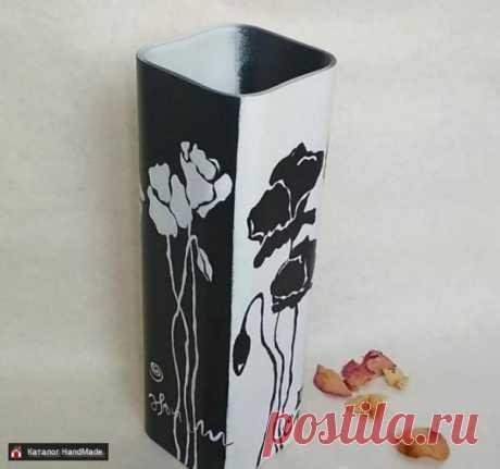 Ваза большая ручной работы расписана вручную купить в Беларуси HandMade, цены в интернет магазинах