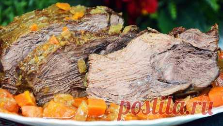 СОЧНАЯ И МЯГКАЯ ГОВЯДИНА, ТУШЕНАЯ ЦЕЛЫМ КУСКОМ В КАЗАНЕ — Кулинарная книга - рецепты с фото