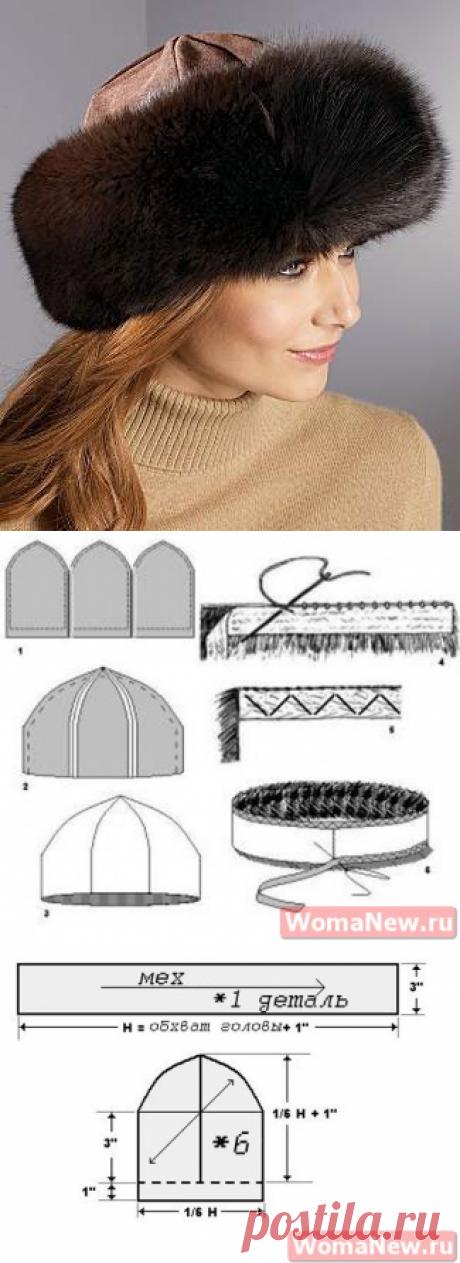 Выкройка меховой шапки   WomaNew.ru - уроки кройки и шитья.
