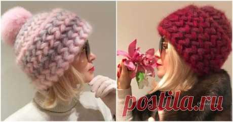 Теплая и стильная шапочка для суровых морозов своими руками — Бабушкины секреты