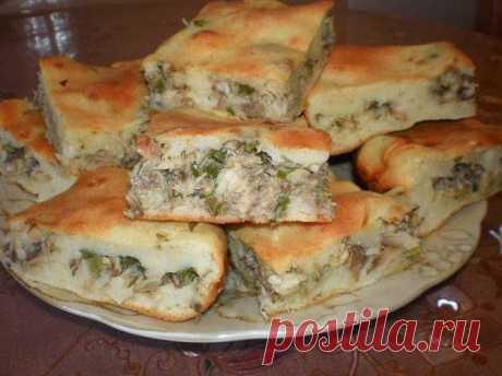 Кулинарные Рецепты: Рыбный пирог на скорую руку.