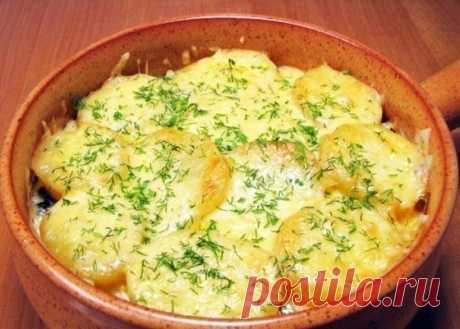 Аппетитная запеканка с грибами и картофелем Сегодня же приготовлю!