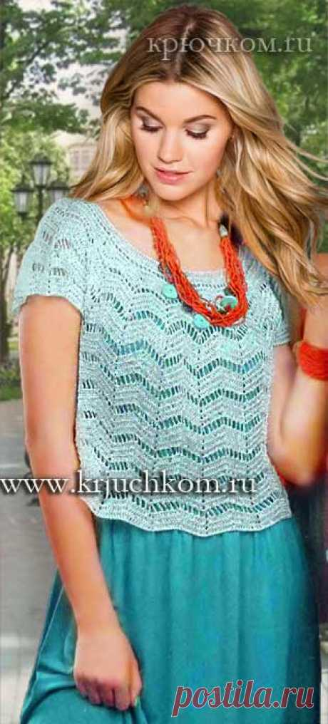 Knitting of a summer topic a hook fashionable models for the summer 2016