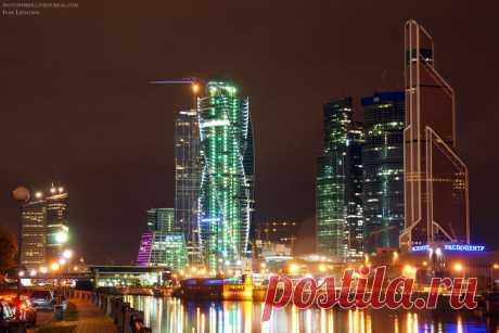 night_in_city: окрестности Красной Пресни в ночном свете