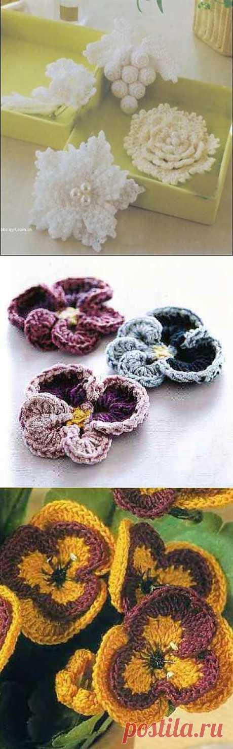 Вязание цветов крючком (кладовая)