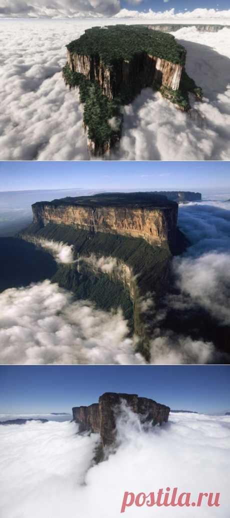 Затерянный мир существует в реальности - Столовые горы тепуи в Венесуэле