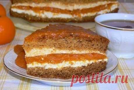 Как приготовить торт с курагой и творогом - рецепт, ингредиенты и фотографии