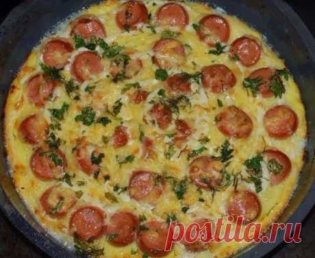 How to prepare potatoes casserole with sausages - the recipe, ingredients and photos