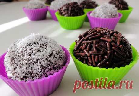 Бригадейро - конфетки из Бразилии (из сгущенки)   Женские секреты Бригадейро — вкусные конфеты, чем-то напоминающие по вкусу трюфели. Своим названием они обязаны чину бригадного генерала Eduardo Gomes, который подал от
