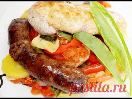 ГОТОВИМ СОЧНЫЕ КУПАТЫ С ОВОЩАМИ ДОМА! Вкусные колбаски с овощами в духовке.