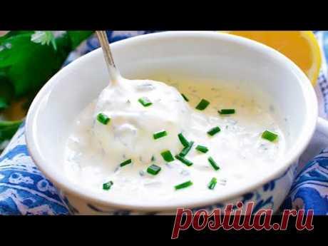 Чесночный соус | Универсальный соус к рыбе, мясу, картофелю, шаурме, пицце #shorts