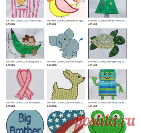DB embroidery designs от DBembroideryDesigns на Etsy