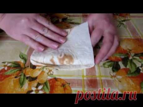 Лаваш с сыром и зеленым луком на сковороде - просто и невероятно вкусно