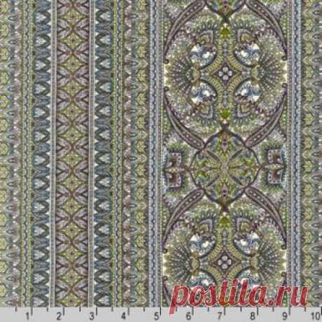 Полосы под старину лилово-зеленые 13547-238 - Marbella <- R.KAUFMAN <- Ткани - Каталог | StitchCraft