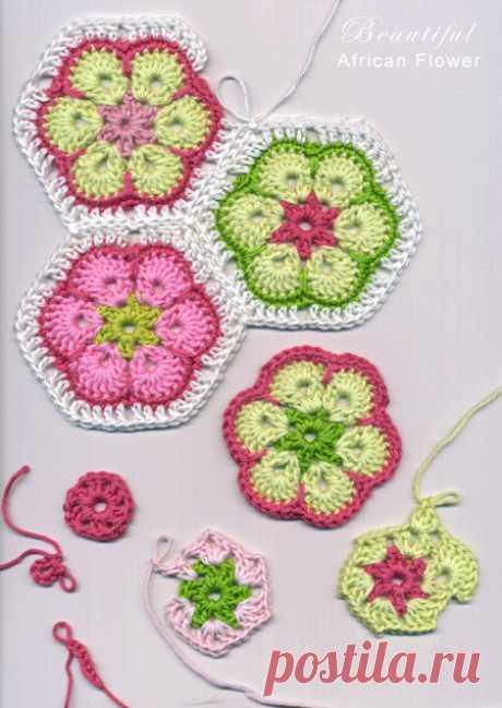 African crochet flowers - Crochet Pattern Yarns