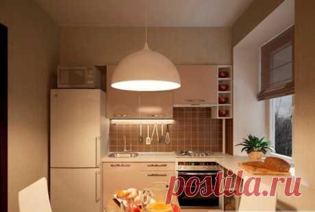 Маленькие угловые кухни в хрущевке: фото с холодильником и раковиной в углу