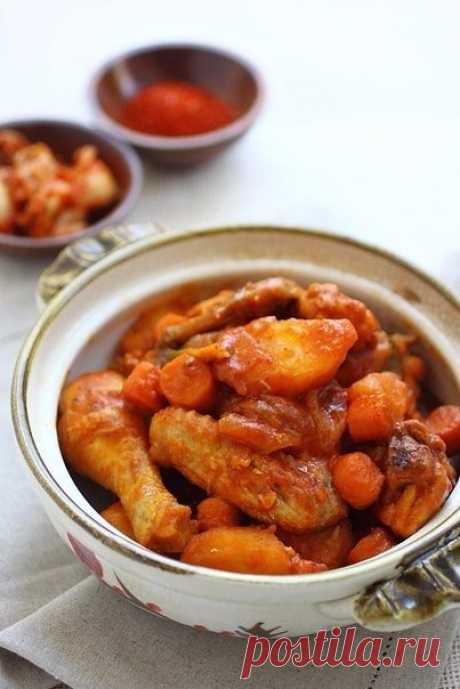 Жаркое из курицы по-корейски