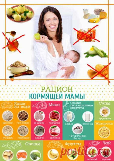 Питание при грудном вскармливании — любая мама мечтает видеть, чтобы ее ребенок вырос жизнерадостным, здоровым и счастливым. А для этого питание самой кормящей мамы на определенный период кормления малютки грудью должно занять важнейшее место в становлении организма ребенка. Особенно тяжело бывает женщине настроиться на правильный образ питания в первые недели, следующие за родами. Новые обязанности мамы, еще не привычные для нее; ослабленное беременностью и родами здоровье зачастую мешают маме