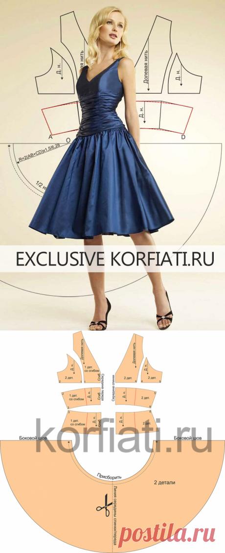 Выкройка платья с драпировкой от Анастасии Корфиати