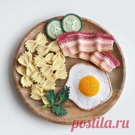 Вязаная еда 😊  Автор: pelyushenko_craft
