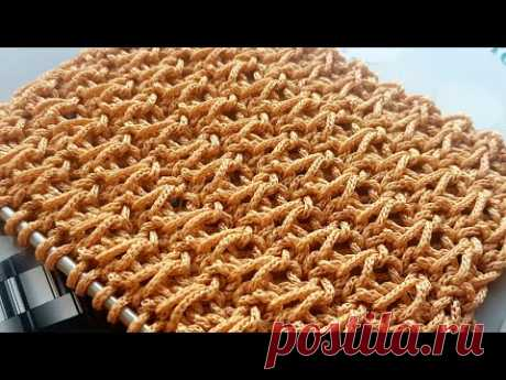 Вяжем креативный узор из пряжи Macrame 🥑 knitting pattern.
