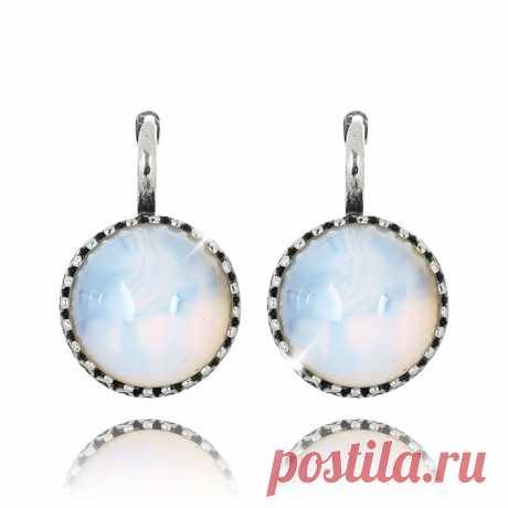 Серьги с лунным камнем (посеребрение), Magia di Natura (Арт.: 56355-4355) купить по выгодной цене в Интернет-магазине Море блеска