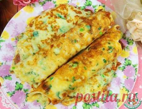Лепешки с сулугуни, зеленью на сковороде – кулинарный рецепт