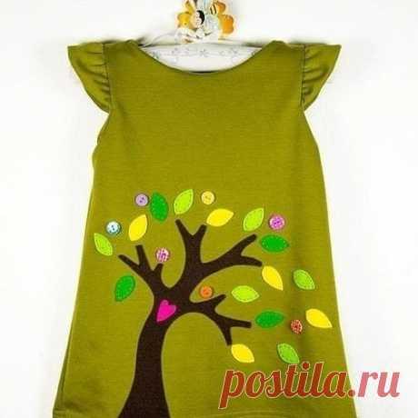 Яркие аппликации на детские платья. Идеи для пошива 😍