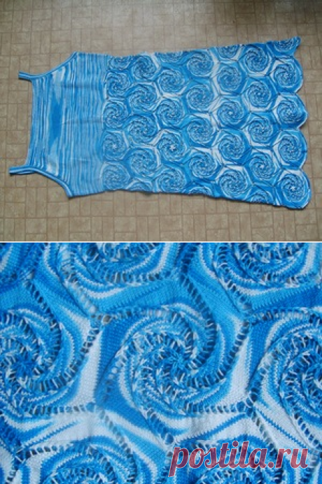 Водоворот красок - юбка на лето спицами или крючком
