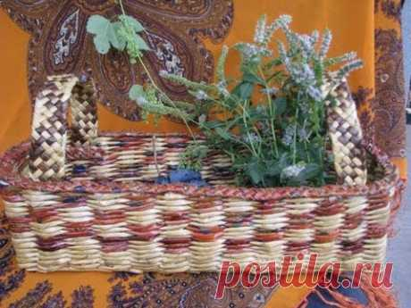 ═► Как плести стенки корзинки / How to plait the walls of a basket