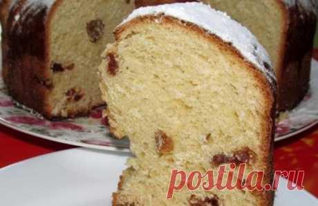 Кулич с изюмом в духовке: пасхальные рецепты