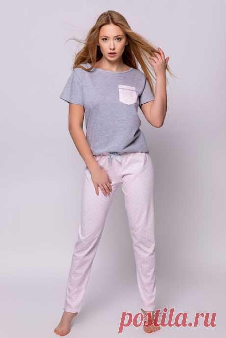 Выкройка трикотажной пижамы размеры XS-XL