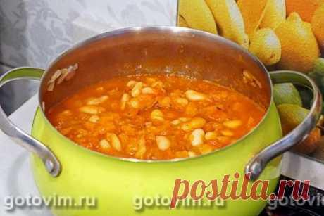 Густой томатный суп с белой фасолью. Рецепт с фото / Готовим.РУ