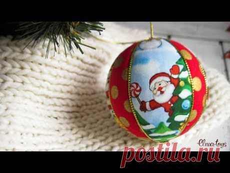 Como hacer la bola del árbol de Noel kimekomi. Los juguetes de Año Nuevo por las manos.