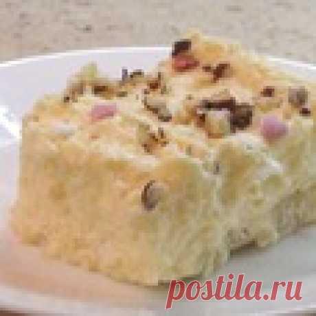 """Торт """"Кокосовое чудо"""" без выпечки Кулинарный рецепт"""