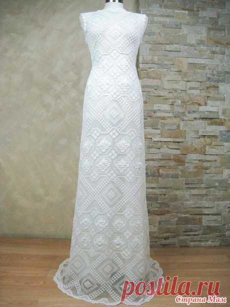 Филейные платья для вдохновения - Вязание - Страна Мам