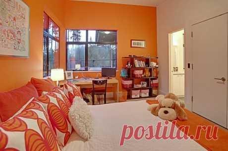 Любителям яркого: интерьер в оранжевом цвете / Домоседы