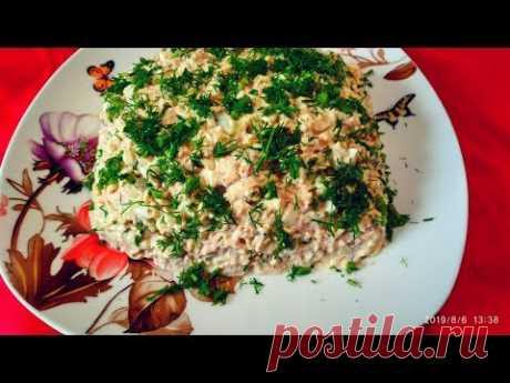 """Салат «Голь на выдумку хитра"""".Рыбный салат с лапшой быстрого приготовления.canned salad - YouTube"""
