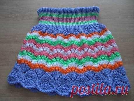 Очаровательная юбочка для девочки (Вязание спицами) – Журнал Вдохновение Рукодельницы