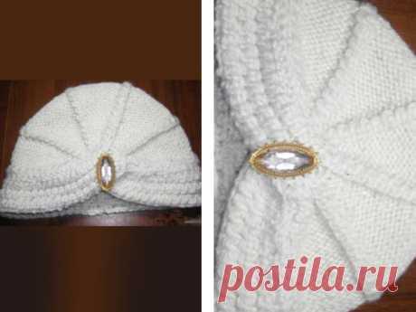 Как связать шапку чалму спицами - схема с подробным описанием