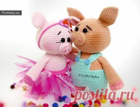Милые вязаные свинки / Вязание игрушек / ProHobby.su | Вязание игрушек спицами и крючком для начинающих, мастер классы, схемы вязания