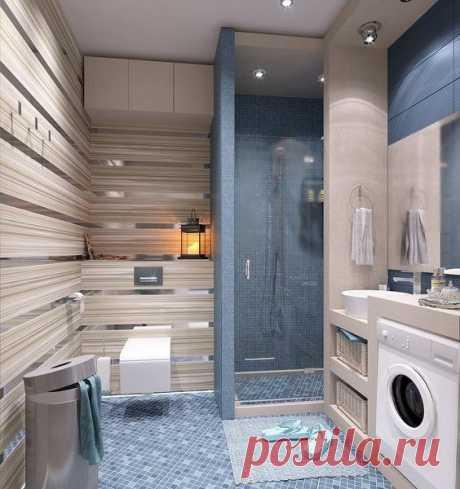 Необычный дизайн. Ванная комната